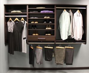 Closet Shelving with  Small Drawer