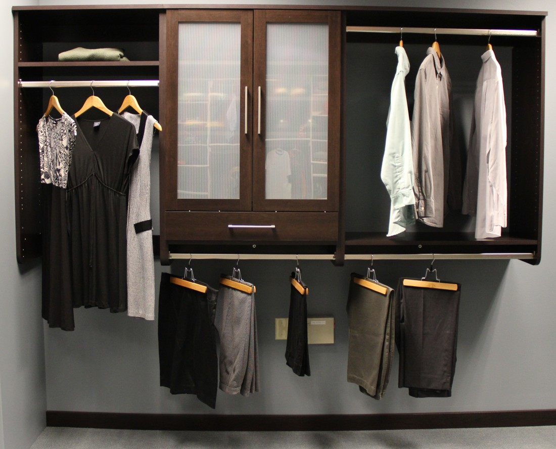 Storage Products Michigan: Custom Closets | FTECH Organization U0026 Storage    Half_Hang_with_Doors_%26_Small_drawers
