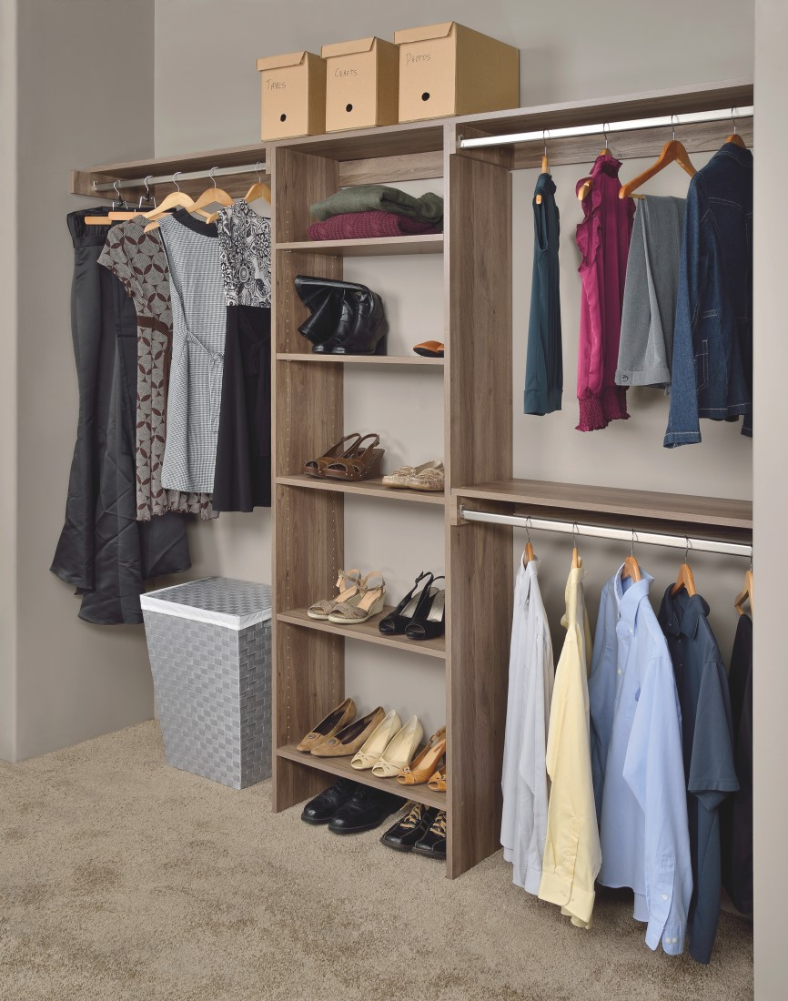 Residential Shelving Solutions Detroit | FTECH Organization & Storage - Salt_Oak_closet(1)